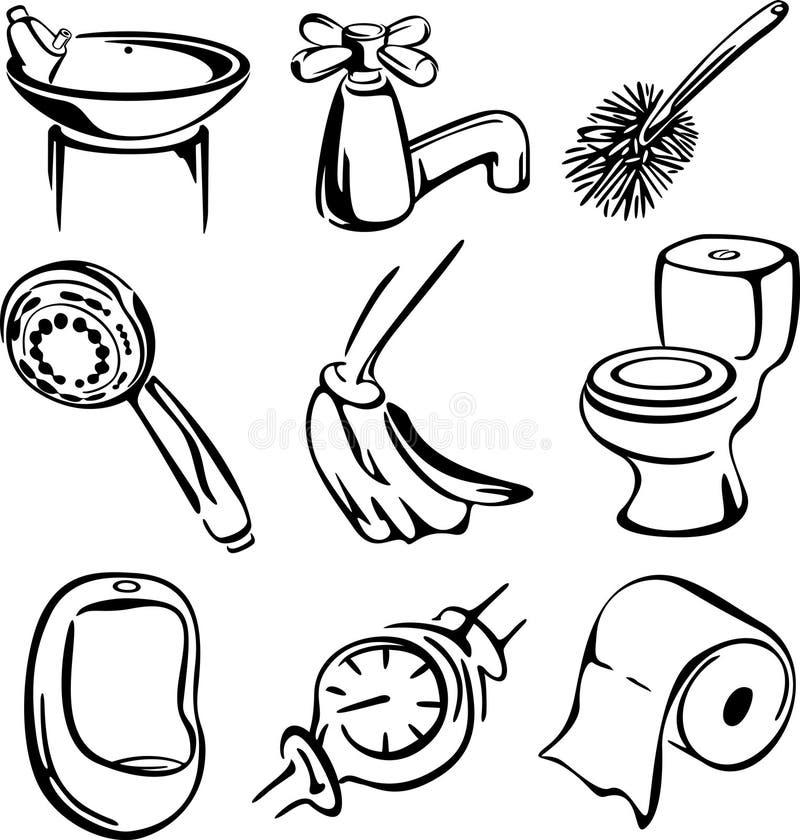 Gráfico do jogo de toalete ilustração do vetor