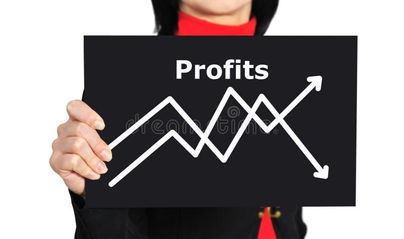 Gráfico do lucro imagem de stock