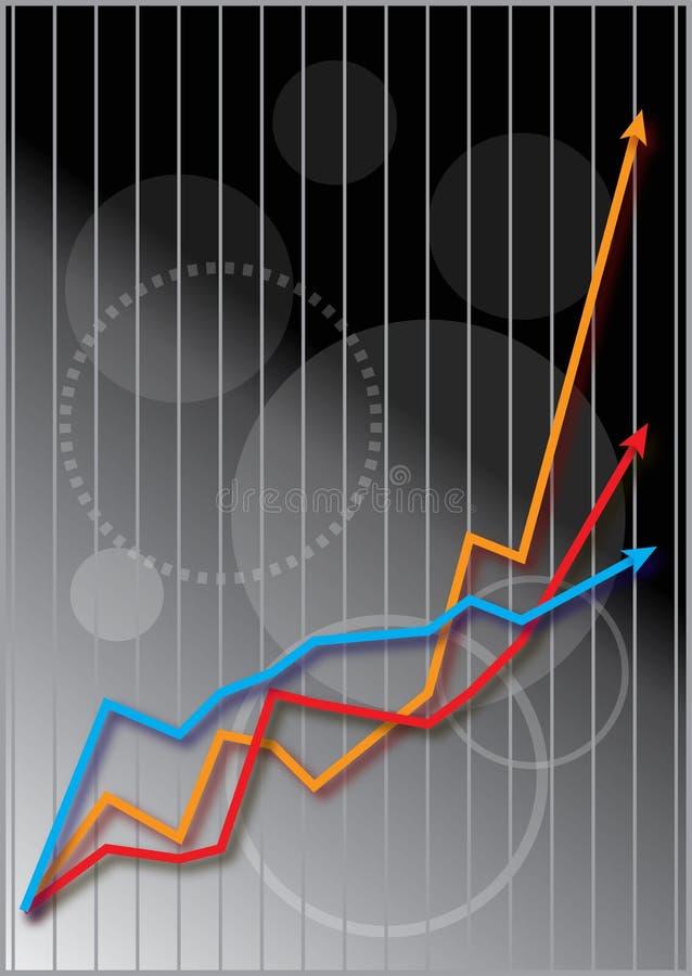 Gráfico do mercado de parte do negócio ilustração do vetor