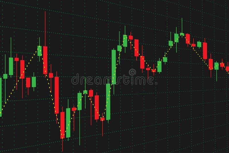Gráfico do mercado de valores de ação para a ilustração do vetor da análise financeira ilustração royalty free