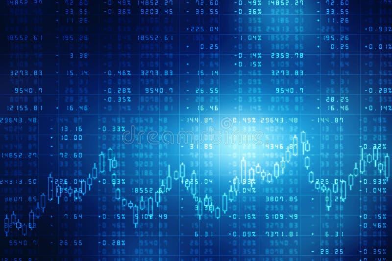 Gráfico do mercado de valores de acção Fundo abstrato da finança, carta do mercado de valores de ação Fundo do gráfico de negócio ilustração royalty free