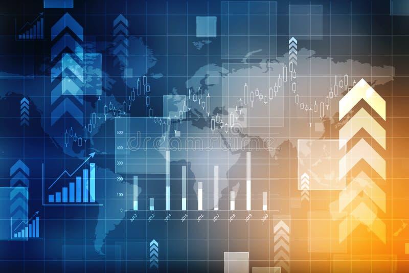 Gráfico do mercado de valores de acção Fundo abstrato da finança, carta do mercado de valores de ação Fundo do gráfico de negócio ilustração do vetor