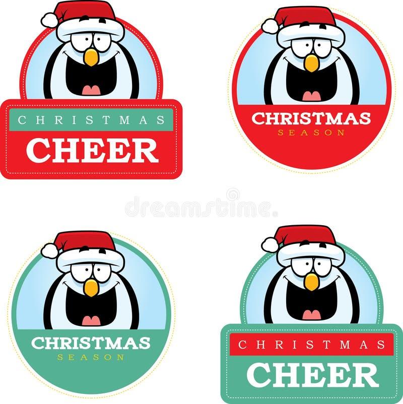 Gráfico do Natal do pinguim dos desenhos animados ilustração do vetor