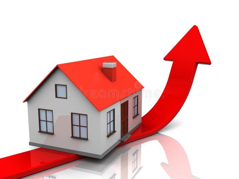 Gráfico do preço da habitação ilustração royalty free