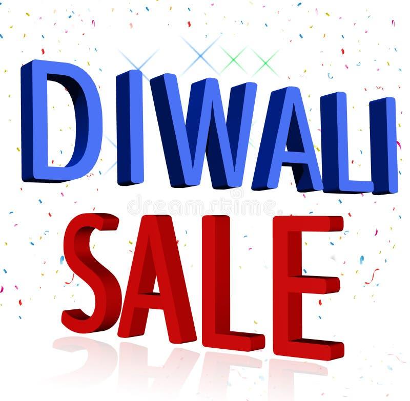 Gráfico do projeto do sinal da venda de Diwali no fundo branco imagens de stock royalty free