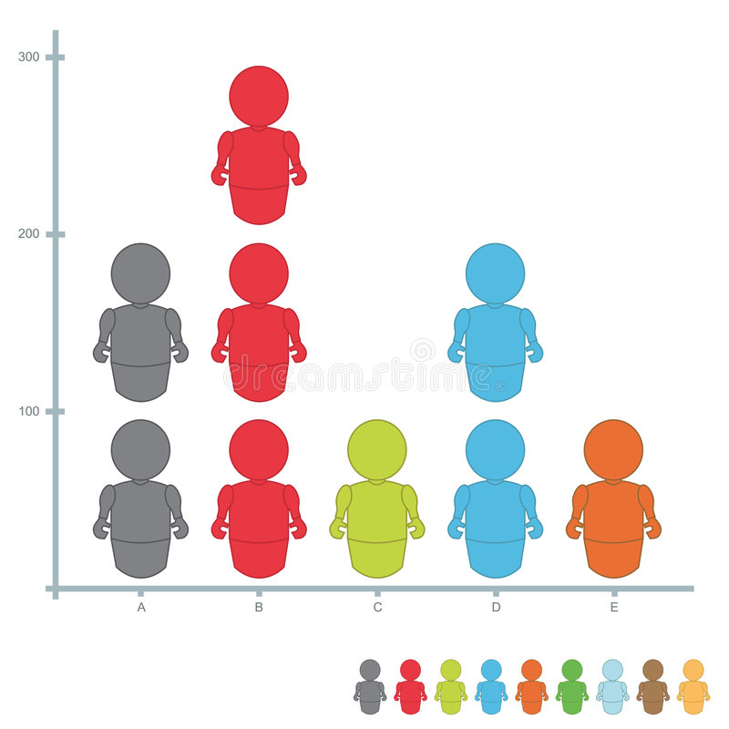 Gráfico do Stats ilustração royalty free