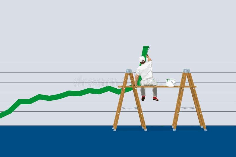 Gráfico do sucesso ilustração royalty free