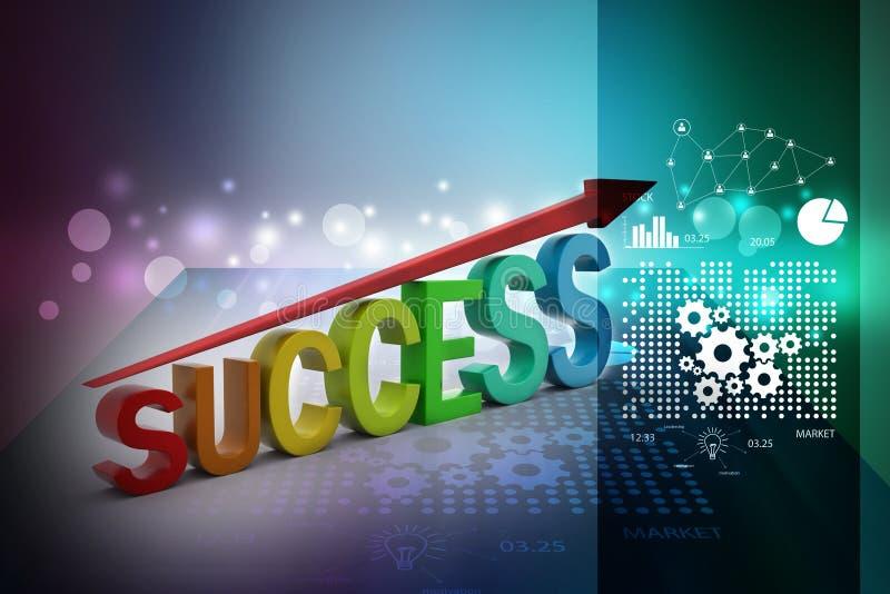 Gráfico do sucesso de negócio ilustração do vetor
