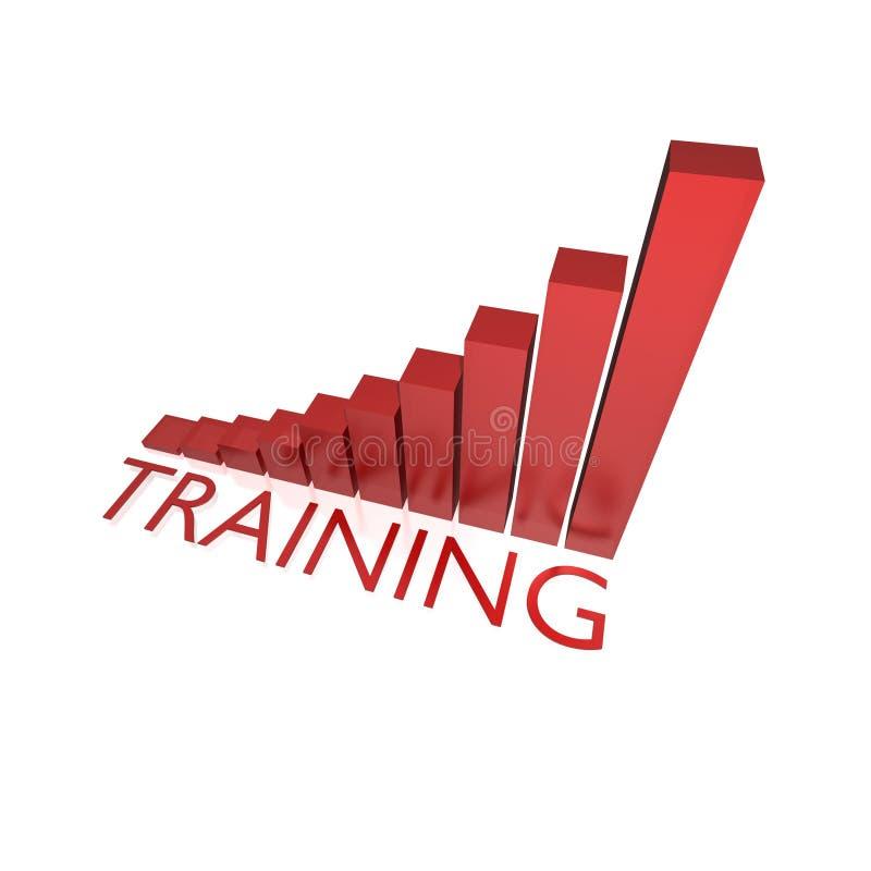 Gráfico do sucesso do treinamento ilustração stock