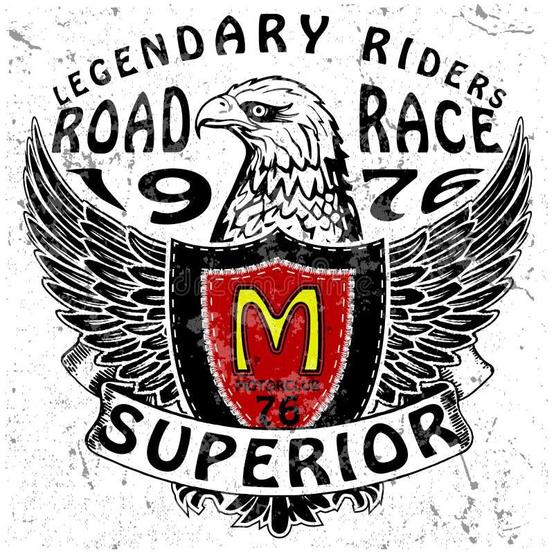 Gráfico do T da motocicleta ilustração royalty free