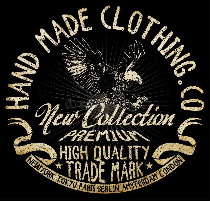 Gráfico do t-shirt de Eagle ilustração stock