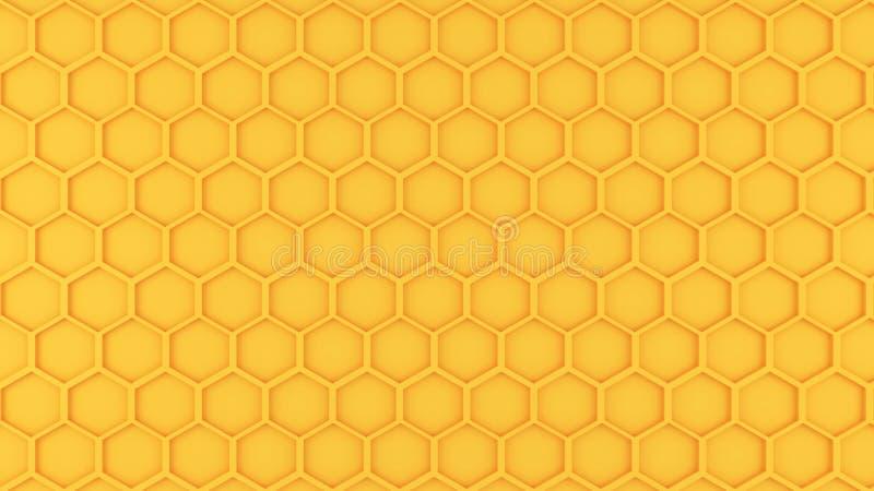 Gráfico do teste padrão do favo de mel ilustração royalty free