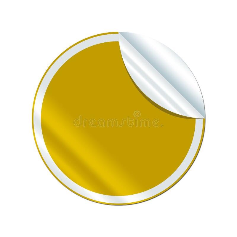 Gráfico do Web da etiqueta do ouro da etiqueta foto de stock
