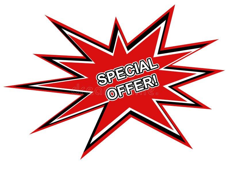 Gráfico do Web da oferta especial ilustração royalty free