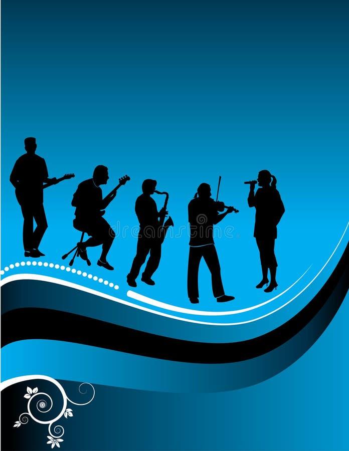 Gráfico dos músicos ilustração do vetor