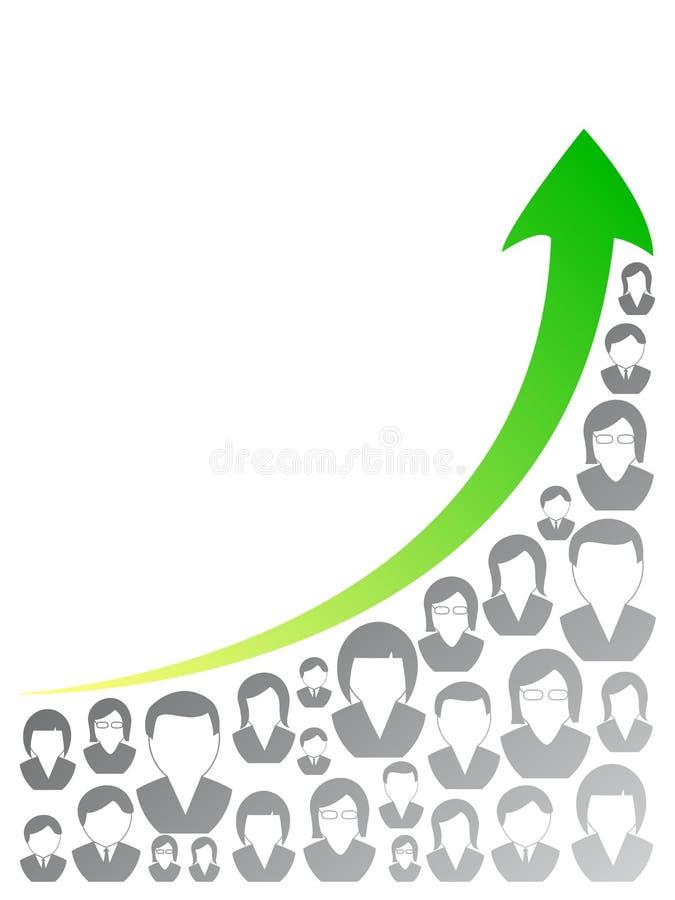Gráfico dos povos ilustração do vetor