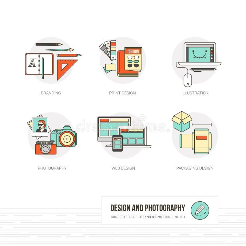 Gráfico e design web ilustração stock