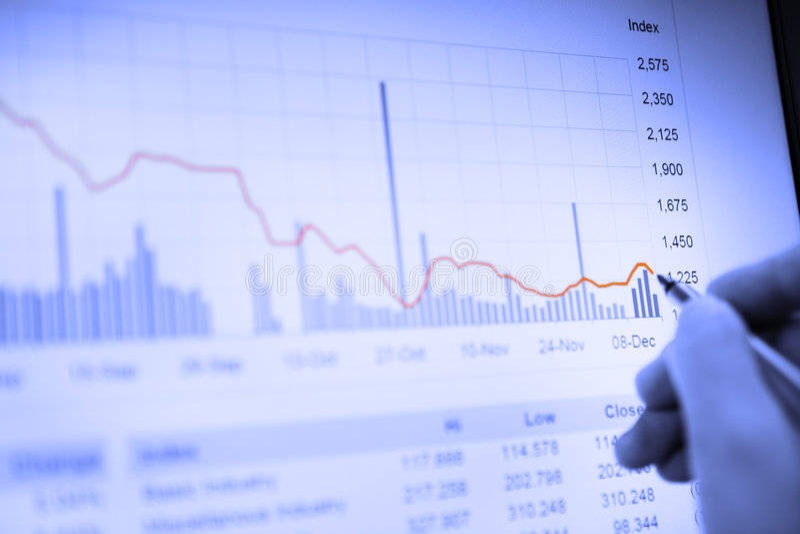Gráfico econômico da contração fotos de stock royalty free