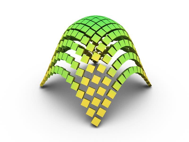 gráfico elíptico del paraboloide 3D imagenes de archivo