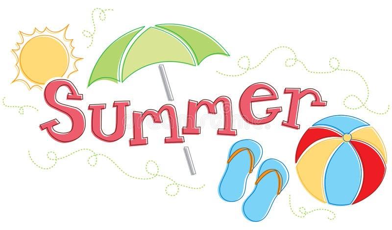 Gráfico estacional del verano ilustración del vector