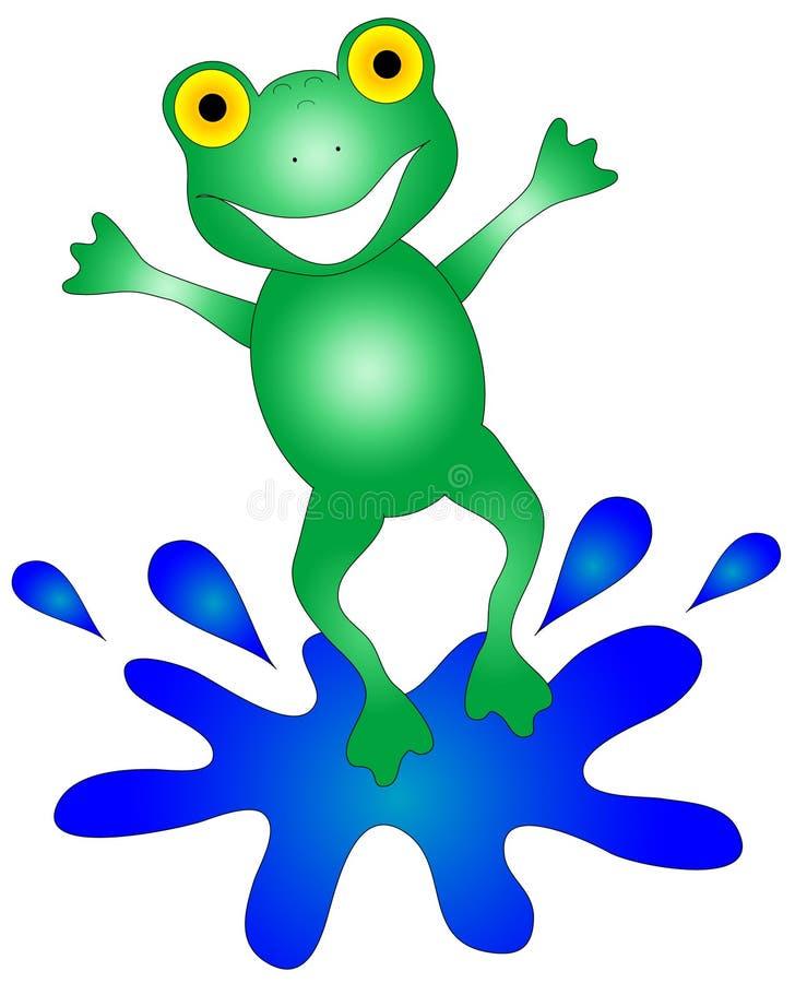 Gráfico feliz de la rana stock de ilustración