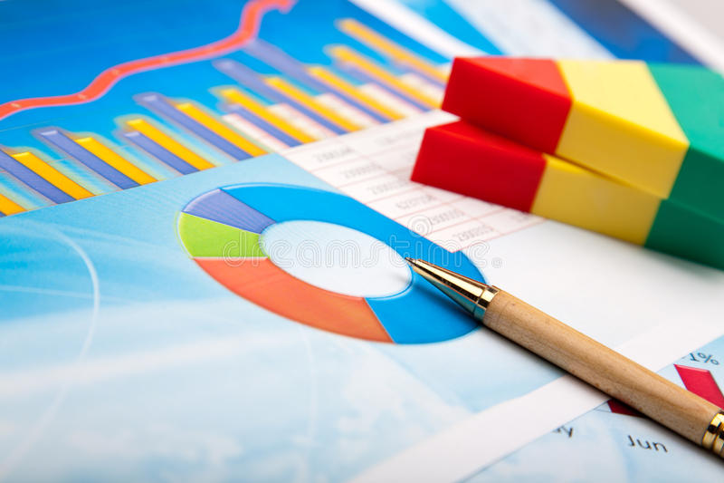 Gráfico financeiro foto de stock