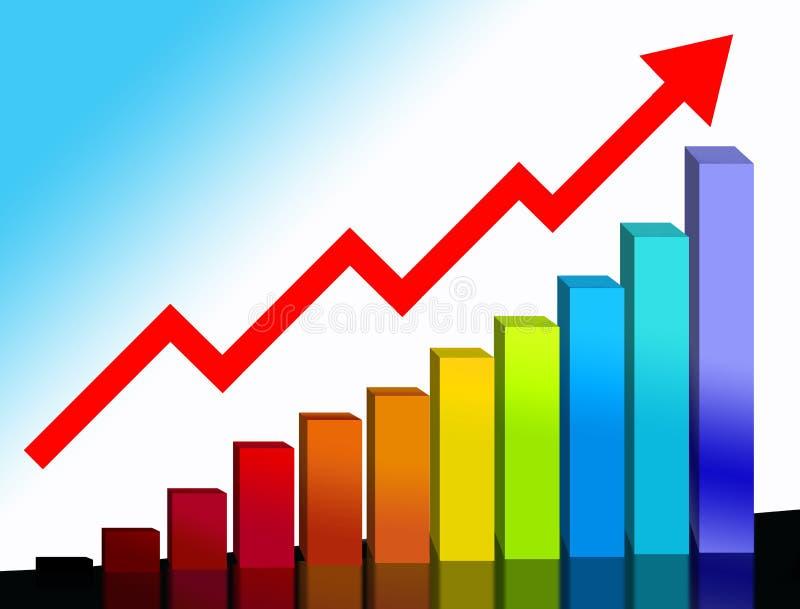 Gráfico financeiro imagem de stock