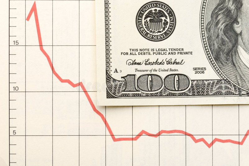 Gráfico financeiro foto de stock royalty free