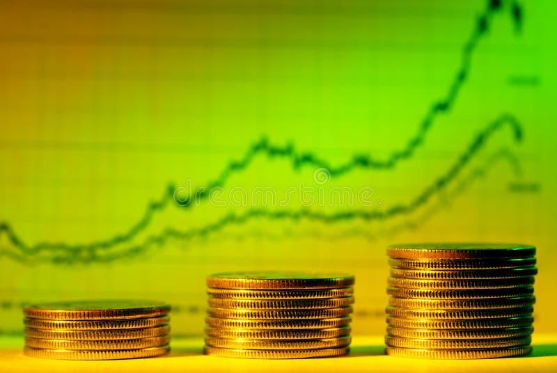 Gráfico financeiro fotos de stock royalty free