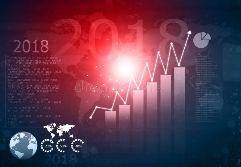 Gráfico financeiro do crescimento foto de stock