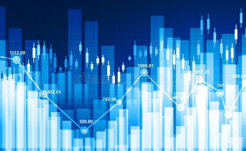Gráfico financeiro do mercado de valores de ação foto de stock royalty free