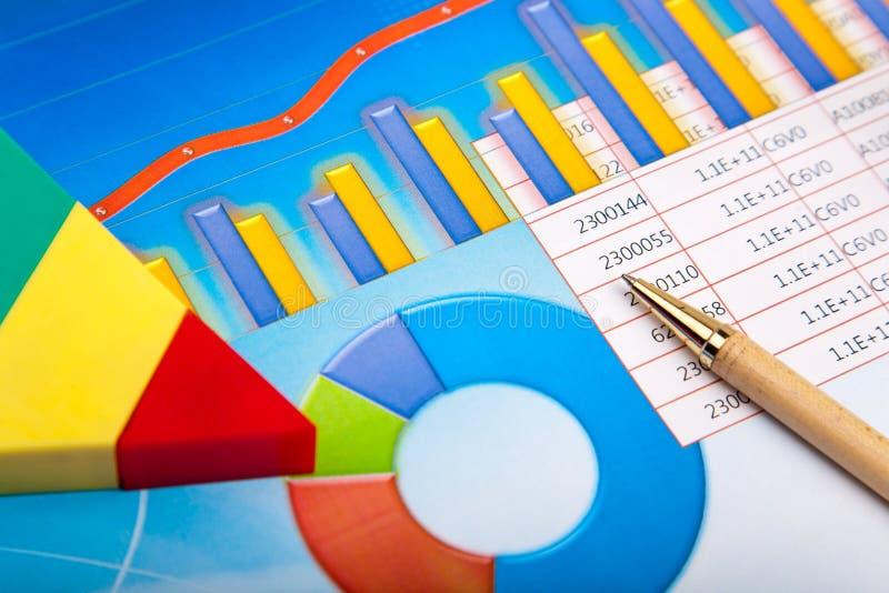Gráfico financiero imagen de archivo