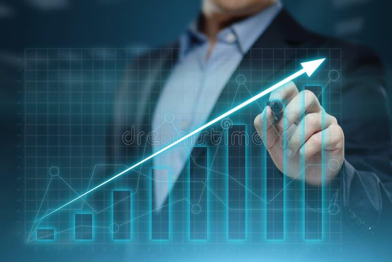 Gráfico financiero Carta del mercado de acción Concepto de la tecnología de Internet del negocio de la inversión de las divisas fotos de archivo