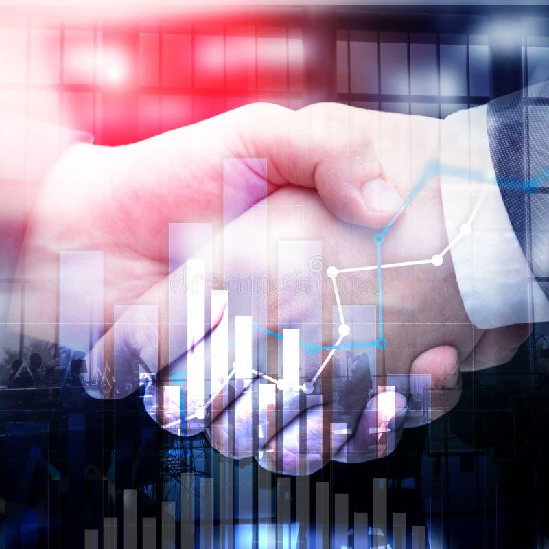 Gráfico financiero del crecimiento Aumento de las ventas, concepto de la estrategia de marketing foto de archivo