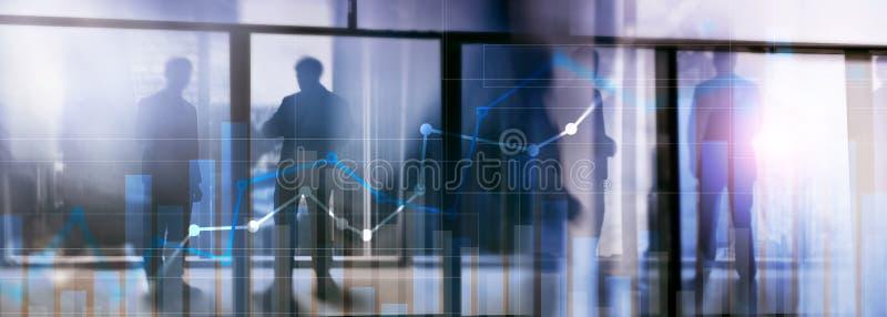 Gráfico financiero del crecimiento Aumento de las ventas, concepto de la estrategia de marketing imágenes de archivo libres de regalías