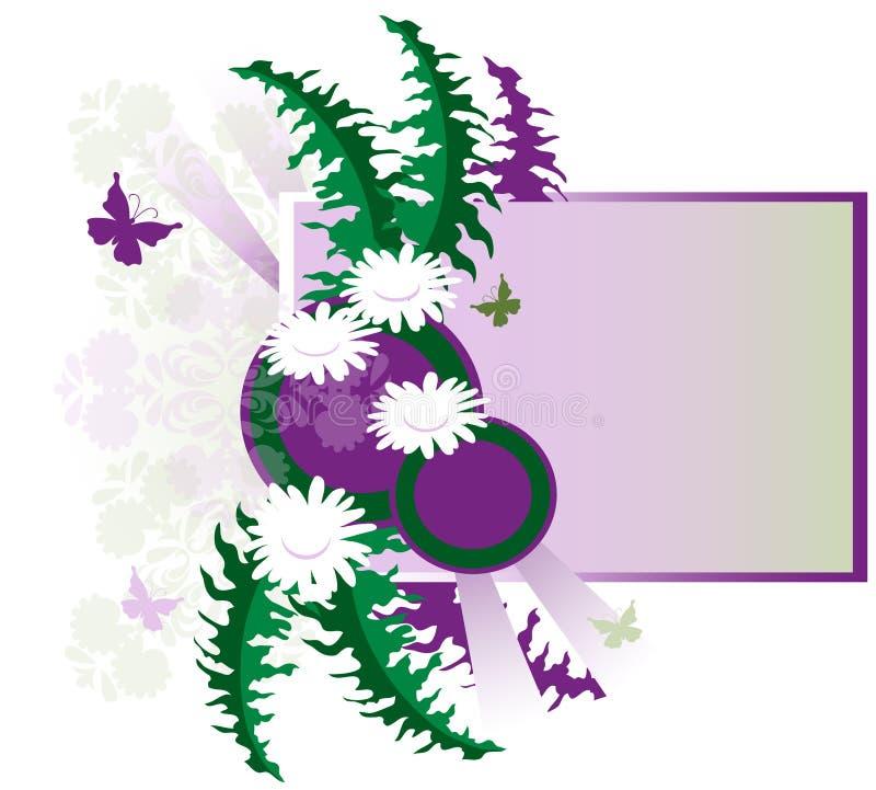 Gráfico floral retro stock de ilustración