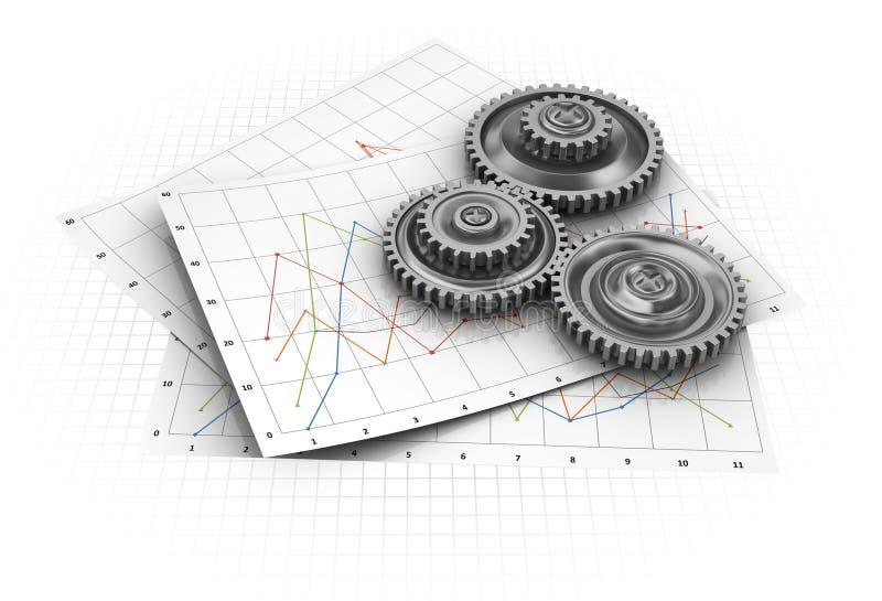 Gráfico industrial ilustración del vector