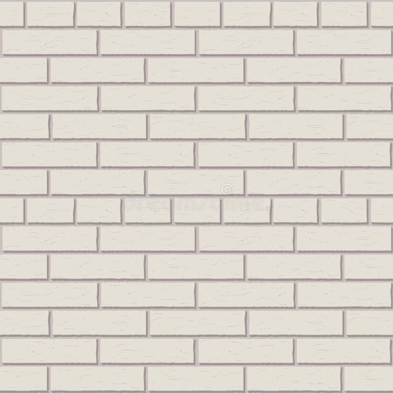 Gráfico interior do teste padrão branco do vetor da parede de tijolo ilustração stock