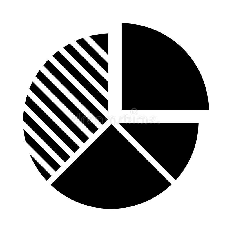 Gráfico isolado ícone Glifo do Gráfico de Pizza Estilo no conceito de negócios e escritório do elemento simples EPS 10 glifo veto ilustração do vetor