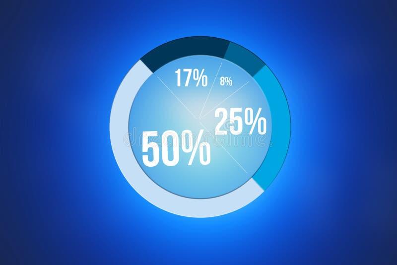 Gráfico isolado em um fundo - conceito da estatística do negócio ilustração do vetor