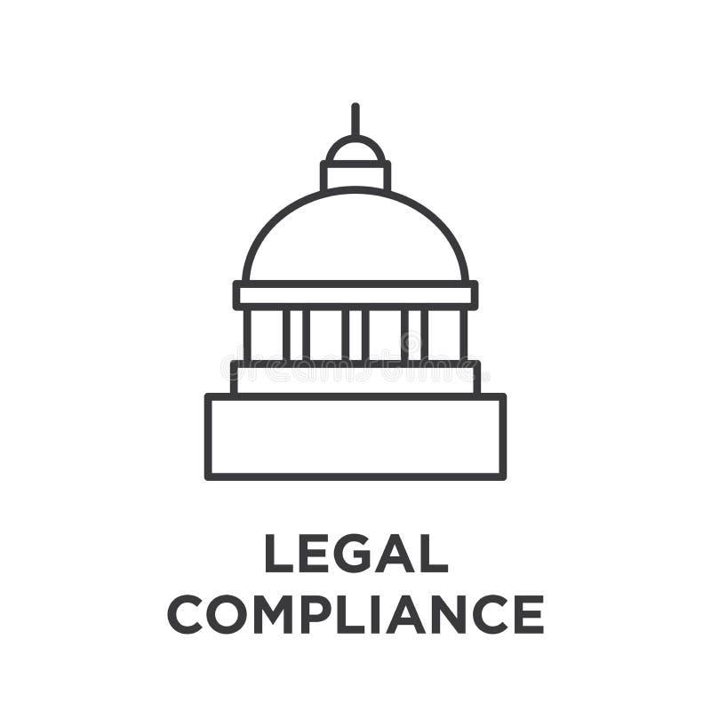 Gráfico legal da conformidade com construção do capitol ilustração royalty free