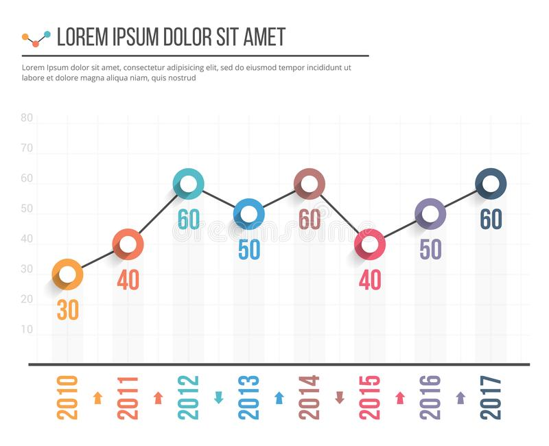 Gráfico linear ilustração royalty free