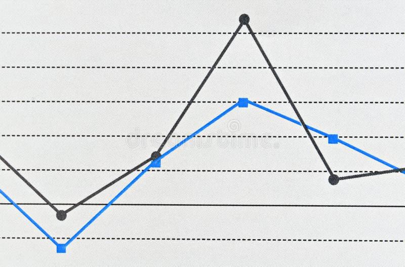Gráfico linear simples fotos de stock royalty free