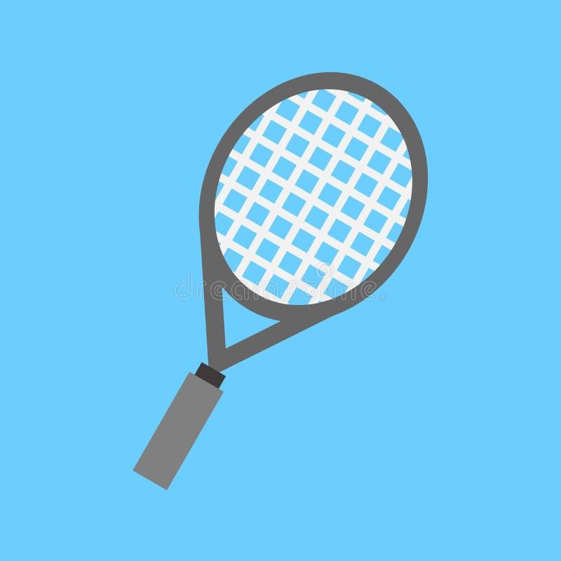 Gráfico liso simples da ilustração do vetor do esporte da raquete de tênis do estilo ilustração stock