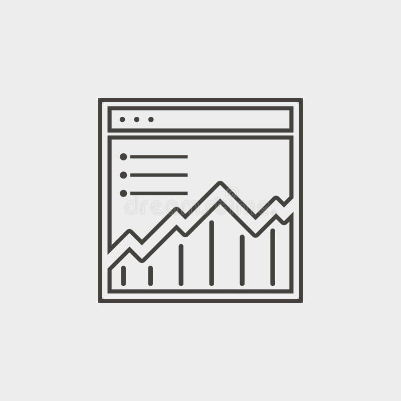 Gráfico, local, rede, esboço, ícone Ícone do vetor do desenvolvimento da Web Elemento do símbolo simples para Web site, design we ilustração royalty free
