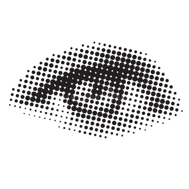 Gráfico macro del ojo stock de ilustración