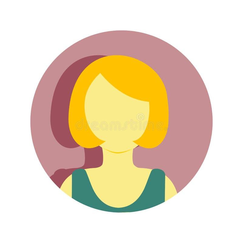 Gráfico maduro del ejemplo del vector de la gente del pelo corto de las mujeres stock de ilustración