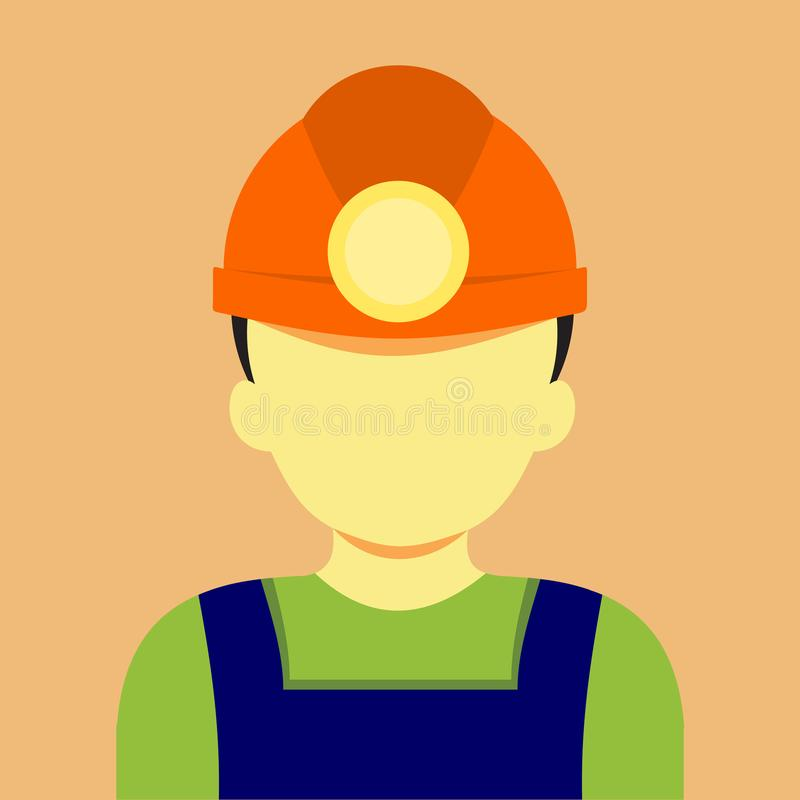 Gráfico masculino de Mining Vetora Illustration do mineiro do trabalho ilustração do vetor