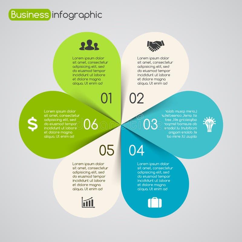 Gráfico moderno de la información de vector para el proyecto del negocio ilustración del vector