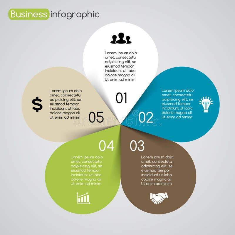Gráfico moderno de la información de vector para el proyecto del negocio stock de ilustración